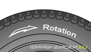 как правильно ставить шины с направленным рисунком