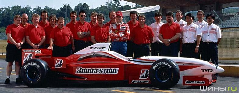 Шины Bridgestone на болиде Формула-1
