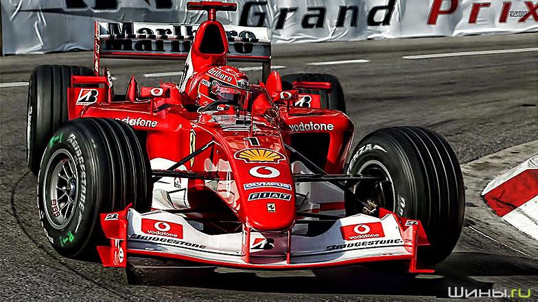 Колесные диски BBS на болиде Ferrari
