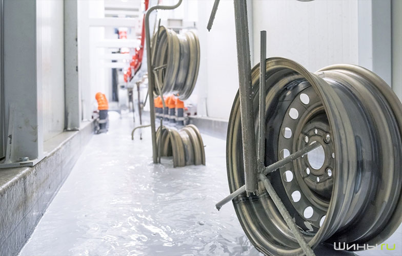 Линия покраски и катафореза на заводе по производству дисков Trebl