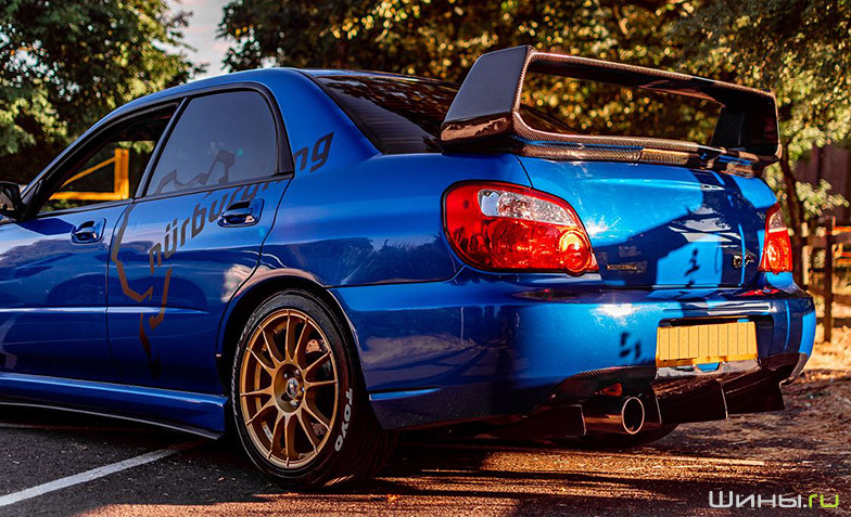 Диски OZ Racing на Subaru Impreza