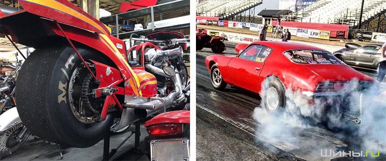 Шины Mickey Thompson на гоночных автомобилях